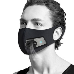 Maske PM2.5 Staubdichtes Smart-Ventilator Masken Anti-Pollution Pollen Allergie Breathable Gesicht Schutzhülle Multi Layer Protect