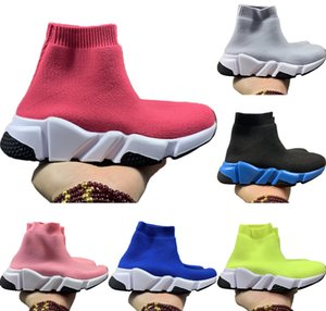 With Box 2020 Speed Stretch Knit Kids Mid Breathable Casual Sock Shoes Originals BB Speed Kids Buffer Rubber Sports Shoe