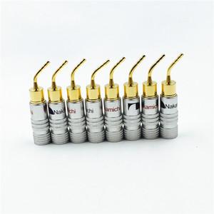 Illuminazione 8pcs filo di alta qualità Nuovo 24K Nakamichi Speaker Pin Angelo 2 millimetri Banana Plugs altoparlante Vite di bloccaggio del connettore