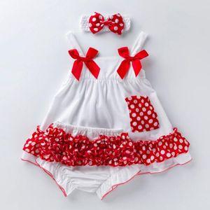 High Quality Baby Clothing Set Cute Polka Dot Tutu Dress Floral bloomers Ruffled Underwear Bows Shoes Headband Gir Newborn Gift