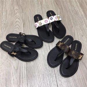 G Casual Shoes Flip Flops per gli uomini e le donne pantofole Gucci cuoio piano delle signore del tallone di LV Louis Vuitton Sliders sandali Gucci 4