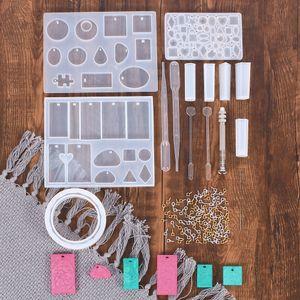 KyXu5 115-piece set crystal drop glue Jewelry pendant set bracelet mould Pendant mixing stirring rod horn Ding Jinyin drill dropper stirring