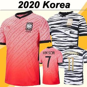 2020 Corea del hombre del fútbol de los jerseys Nueva Selección Nacional de T J HWANG I B HWANG C H H H KWON hijo a casa Rojo blanco ausente del fútbol Uniformes de adulto camisa