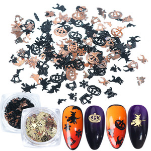 Nail Art Décorations Halloween 120pcs Nail Sticker Patch en alliage ongles Ornements Accessoires de manucure bricolage Décor de manucure Nails Art Stickers