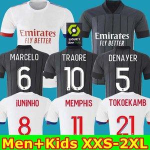 أعلى 20 21 مايوه دي القدم اولمبيك ليون ليون لكرة القدم جيرسي 2020 2021 مايوه دي ليون قميص كرة القدم تراوري ممفيس OL الرجال ليون للأطفال