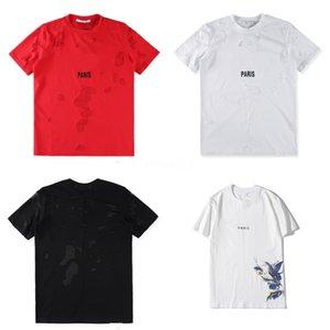 Fashion Designer Mens T Shirts O-Neck Short Sleeved Figure Letter Printed Tees Teenagers Summer Tops Causal Mens Clothing #QA125