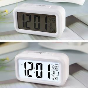 Wecker-Großanzeige mit Kalender für Home Office Tischuhr Snooze Elektronische Kinder LED Desktop-Digitaluhr