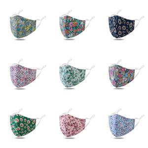 페이스 마스크 꽃 인쇄 먼지 세척 입 여성 재사용이 보호 패션 쉴드 패션 PM2.5 마스크 마스크