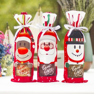Wine Gift Bag Kitchen Xmas Decoration Christmas Wine Set Christmas Bottle Cover Dinner Table Decoration 1Pcs