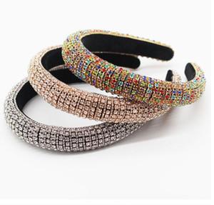 Nouveau Plein cristal Bandeaux Bandeaux pour les femmes de la mode Lady strass diamant Brillant rembourré Bandeau cheveux Party Hoop Accessoires Bijoux