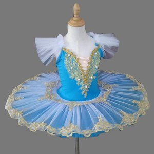 Kinder Little Swan Balletttanz-Kostüm Professionelle Swan Lake Ballet Tutu Garn-Rock Blau Tutu