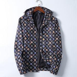 Fashion Jacket Sportswear Windbreaker Long Sleeve Mens Jackets Hoodie Clothing Zipper with Animal Letter Pattern Plus Size Clothes M-3XL