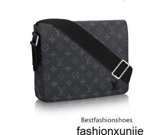 DISTRITO PM M44000 Homens Messenger Bags Shoulder Belt Bag Totes Portfolio Pastas Duffle da bagagem