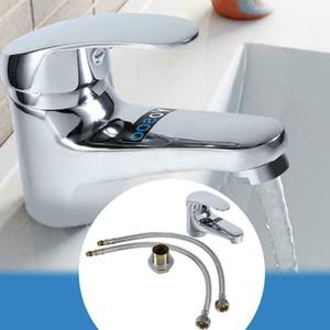 Pia do banheiro torneira Bacia Chrome Cachoeira Bico Single Handle Mixer Tap prata