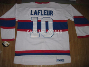 All'ingrosso hockey canadiens # 10 Guy lafleur ccm vintage maglie bianche