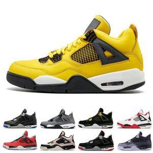 4 Mens Scarpe da basket Court Viola Leale Blu Blue Pine Green Bred Pure Soldi 4s Sneakers Scarpe sportive Dimensioni 713