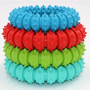 The new Molar rubber ring dog toys molar mouth massage training pet supplies color optional size Color random