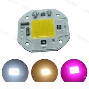 Luz Cuentas de aluminio DOB 3500V de alta potencia de la viruta 20W 30W 50W blanco cálido espectro completo de bricolaje Para Crecer ligh bombilla del reflector 220 EUB