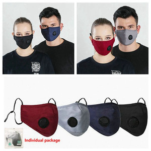 Face Mask Anti-Dust Earloop with Breathing Valve Adjustable Reusable Mouth Masks Breathable Anti Dust Protective 30pcs