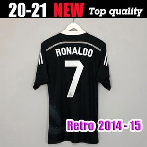 james Ronaldo Chicharito Benzema Bale Isco 2014 2015 Real Madrid camisa retro de futebol 14 15 terceiro camisa de futebol preto do vintage dragão chinês