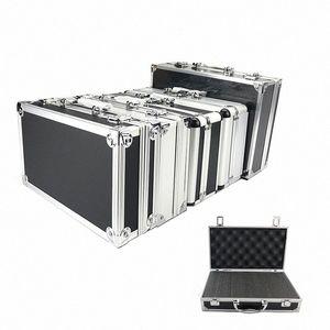 New Toolbox Portable Aluminum Tool Box Instrument Box Storage Case Handheld Impact Resistant Profile Case With Lining Sponge qNm1#