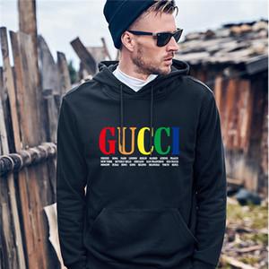 Мужские британский флаг пуловер ватки с капюшоном Hoddies с длинным рукавом сплошной цвет Homme Одежда Мода Zipper Повседневная одежда GUCCI