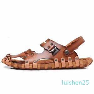 Hommes Femmes Sandales Chaussures Diapo été Mode plat large Slippery Sandales Slipper Flip Flop shoe10 P14 L25