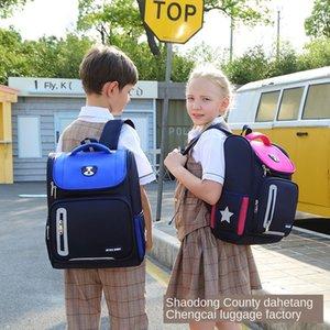 Ruiqi Primary School school Protective Space boy girl space bag shoulder bag light Ridge protection children's schoolbag