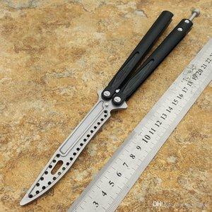 3 bilye D2 bıçak alüminyum kolu kelebek eğitmen eğitimi bıçak değil keskin El Sanatları Dövüş sanatları Koleksiyon knvies hediye şimdi Tyon