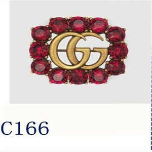 2020 Luxury Designer Exquisite Double Letter gûccì Brooch For Women Statement Brand chãnêl rooches Pins Accessories Jewelry Gift