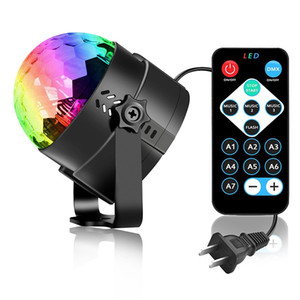 Sound Activated Rotating Disco Ball Party Lights Strobe Light 3W RGB LED Stage Lights For Christmas Home KTV Xmas Wedding Show Remote contro