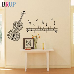 Violin Music Wall Stickers for Kids Room Wall Decal BABY Nursery Music Vinyl Stickers Home Decoration Teen Bedroom Living Room