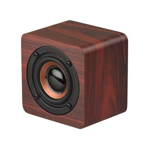 Portable Speakers Wooden Bluetooth Speaker Wireless Subwoofer Bass Powerful Sound Bar Music Speakers for Smartphone Laptop