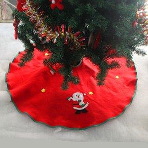 Christmas Decorations For Home Straight Edge 90CM Non-Woven Christmas Tree Skirt Aprons Home Decoracion