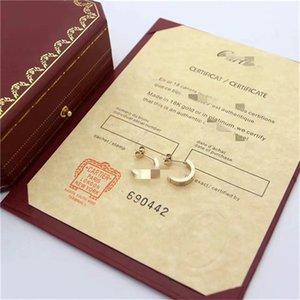 2020 Wholesale Brand DesignerCártier Double Letters Earrings Ear Studs Gold Tone Earring For Women Men Wedding Party Jewelry Gift