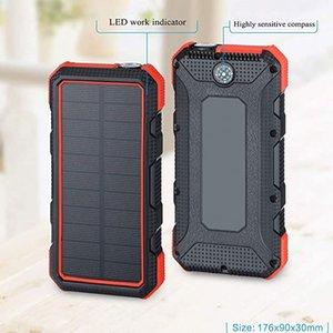 Solar Energy sem fio carregamento rápido Power Bank 20000mAh impermeável Bateria Externa Led Lamp alimentação de emergência lanterna com SOS