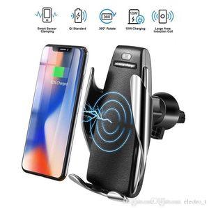 Titolare S5 caricabatterie senza fili automatica serraggio Caricabatteria da auto Mount Smart Sensor 10W veloce di carico del caricatore universale per telefoni MQ20 lsWxj