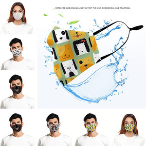 Face Mask 3D Máscaras Anti protetora contra poeira Padrão lavável reutilizável Anti Dog Cotton Mouth Máscaras 8 Cor 300pcs T1I2181