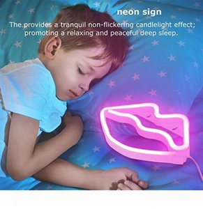 Lips LED Neon Sign Night Lights Unique Design Soft Light Wall Decor Lamp A Toy For Christmas Wedding Party Kids Room