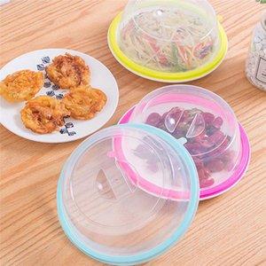 Couvrir le bol plaque de cuisine aliments frais couverture Gamelle Réfrigérateur huile Micro-ondes Couvertures Couvercles épreuve vaisselle transparent Sealed DHD12