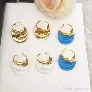 Europe and America Hot Trendy Women Earrings 3 Colors for Options Yellow Gold Plated Earrings for Girls Women for Party Wedding Nice Gift