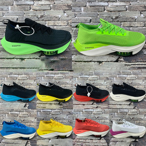 Neue Laufschuhe zoom Alpha schwarze elektrische grüne Fliege Frauen neben% Männer Tour blau weiß orange stricken gelb racer Turnschuhe Outdoor-Mode gezüchtet