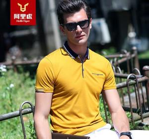 Pop2019 Arie Tiger Wear été à manches courtes T-shirt homme Polo Lapel non doublée vêtement mince couleur solide T-shirt d'usine