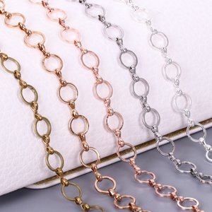 Hot Copper 8mm rose Diy gold ring necklace gold ring chain Handmade diyO chain necklace accessories female