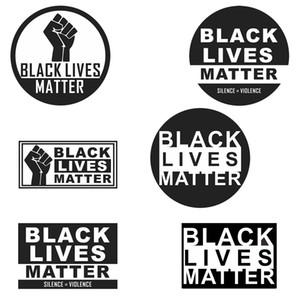 Mora Preto Matéria Anti-racismo slogan adesivos de carro Protesto Adesivo New punho Decal para Car Styling Veículo Paster DHB5