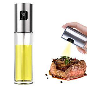 Olivenöl Sprayer Lebensmittel-Grade-Glasflasche Spender für Kochen, Grill, Salat, Küche Backen, Braten, Frittieren 100ml JK2005KD