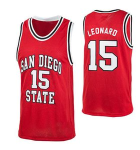Custom Men Youth women Vintage San Diego State RED #15 Kawhi Leonard Aztecs basketball Jersey Size S-4XL or custom any name or number jersey