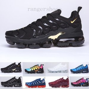 Free Shipping New Mens Shoe Sneakers TN Plus Breathable Air Cusion Desingers Casual Running Shoes New Arrival Color US5.5-11 EUR36-45 KK9-G