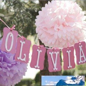 """100pcs 4"""" decoración 10cm de tejido recogida de papel-bola colores de su boda partido de la flor pompones de papel Craft cumpleaños"""