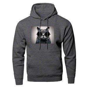 British Shorthair Kedi Hoodie Erkekler Kazak Serin Hayvan Streetwear Kış Polar Kazak Tişörtü Kapşonlu Kapüşonlular Komik Hoody